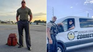 Police officer goes viral for resemblance to Dwayne Johnson