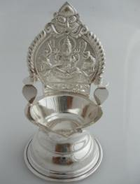 Pure Silver Oil Lamps - Indian Pooja Oil Lamps