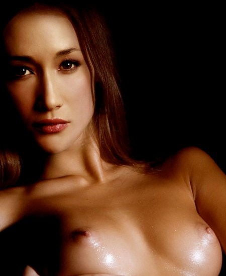 Maggie Q sexy nude in hot photo shoot 1