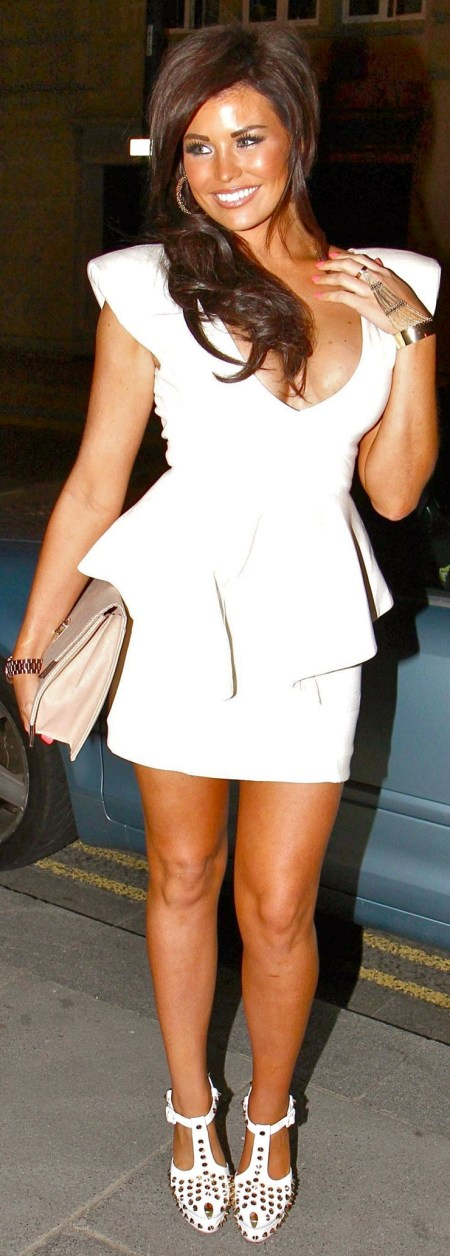 JESSICA WRIGHT in Short Dress Out in Liverpool