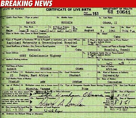fake a birth certificate