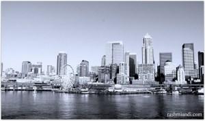 Sky Line fro Alki Beach, Seattle