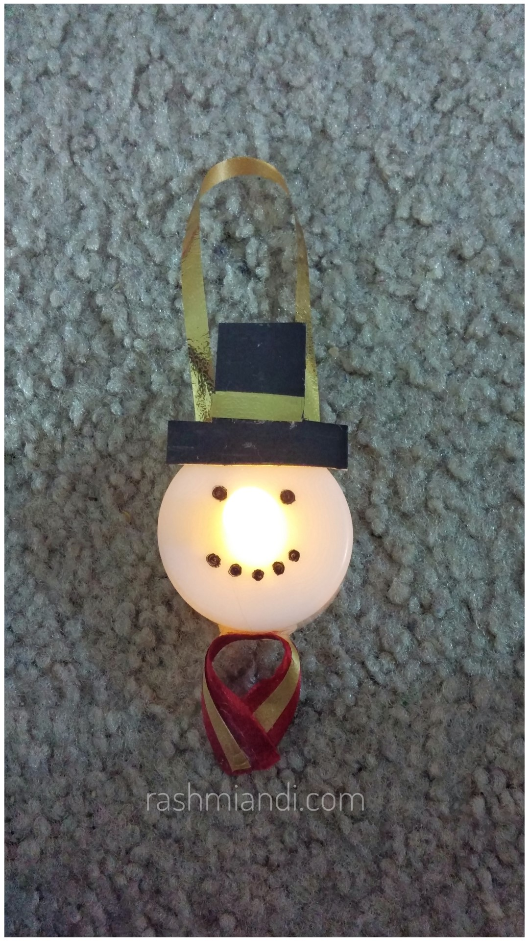 All You Need Is A LED Tea Light Candle And Some Craft Supplies To Make This  Cute Ornament. Have Fun Making This With Your Kids. Happy Holidays!