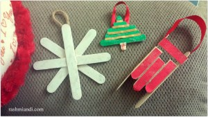 DIY Popsicle Christmas Ornaments