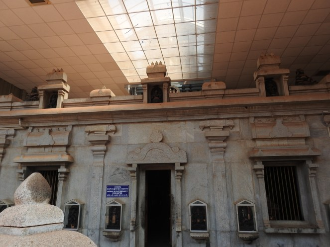Inside the premises of the temple