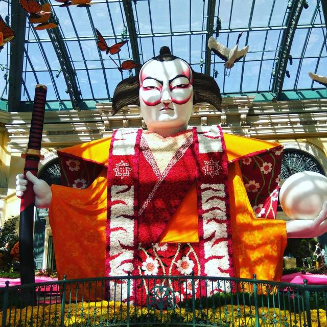The massive 28 feet Kabuki character made up of thousandshellip