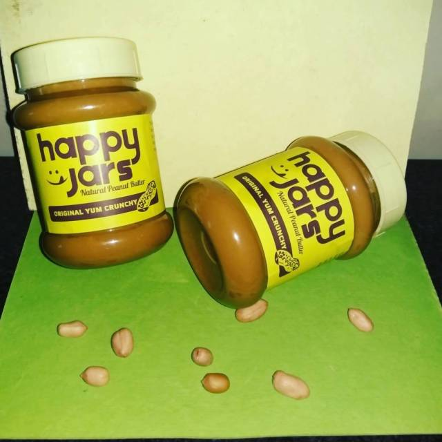 Ordered these jars of peanut butter from Happy jars Fullhellip