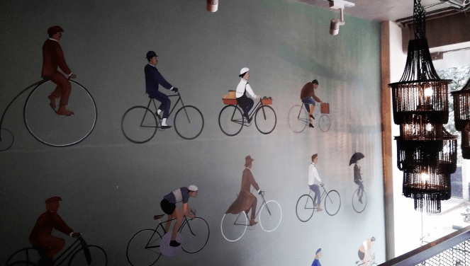 Wall at Ciclo cafe, Bangalore