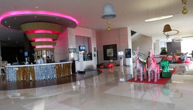 A view of the reception at Novotel Airport Hyderabad
