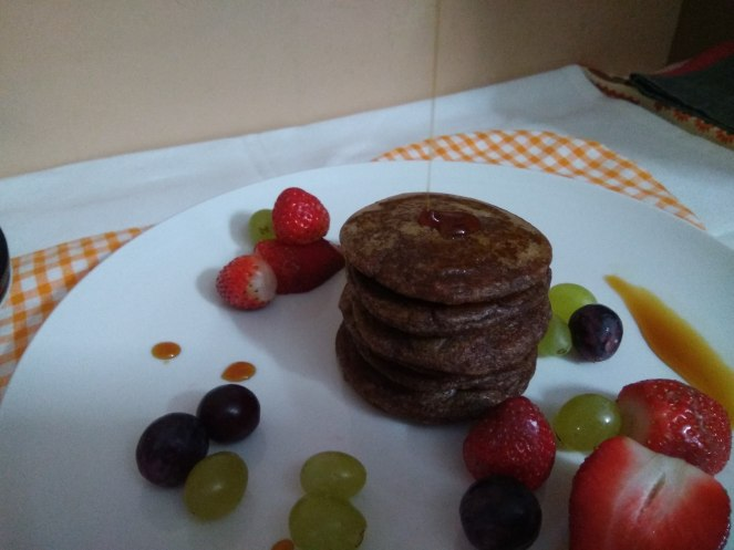 Oats and Finger Millet pancakes
