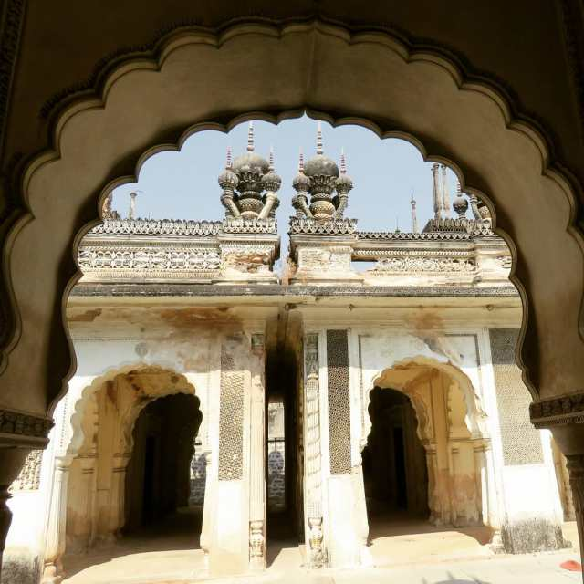 A view of the magnificent Paigah Tombs in Hyderabad ahellip