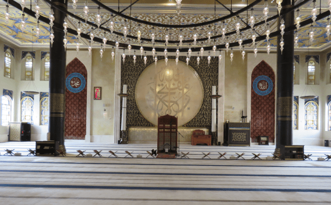 Interiors of the mosque in Katara Cultural village