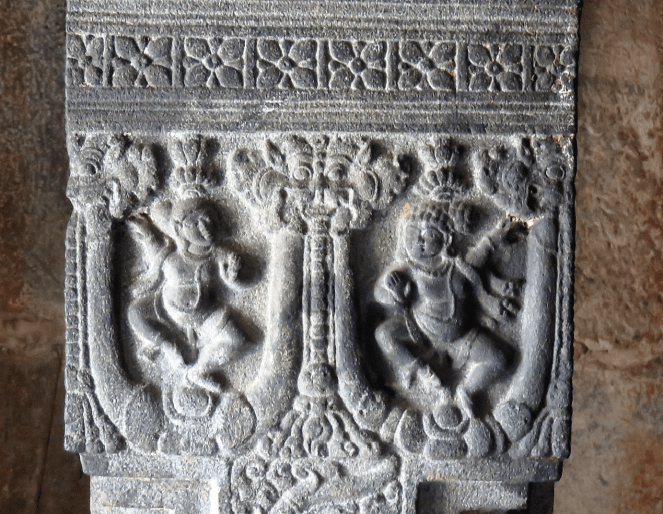 Intricate carvings on pillars