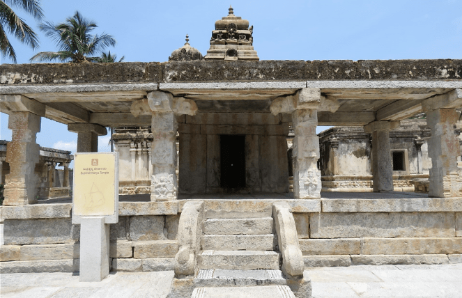 A frontal view of one of the temples in the Ramalingeshwara group of temples, Avani