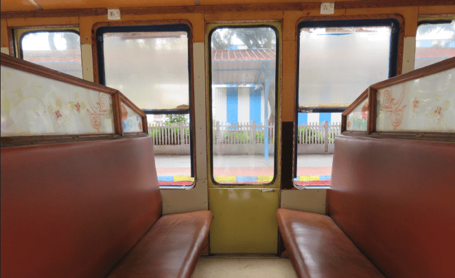 The interiors of the toy train