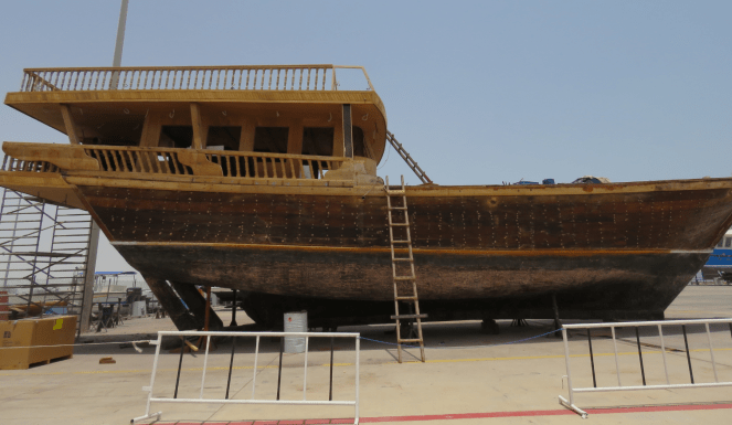 Building of a Dhow in progress