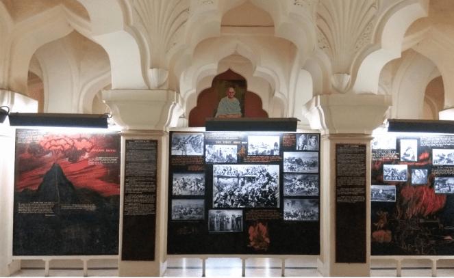Inside Gandhi memorial museum, Madurai