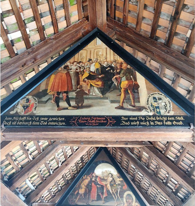 Artwork inside the Spreuer Bridge