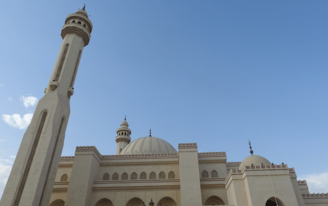 A view of Al Fateh Grand Mosque in Bahrain