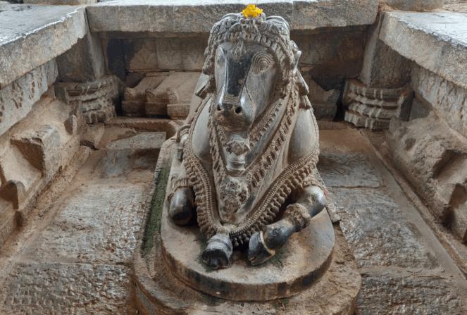 Holy Bull or Nandi in Panchalingeshwara temple, Govindanahalli