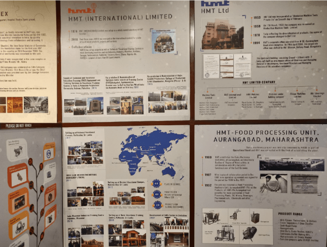 Displays at HMT Heritage Centre and Museum
