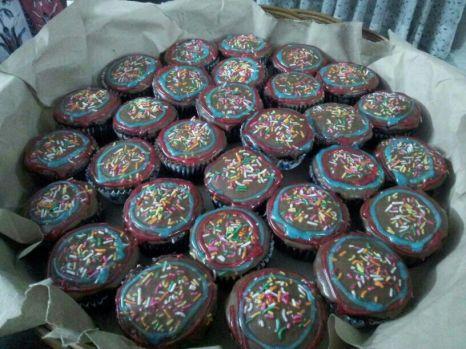 iced choc cupcakes