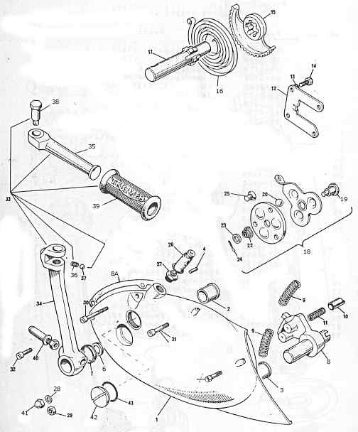 Shifter parts for 750 Triiumph Twin