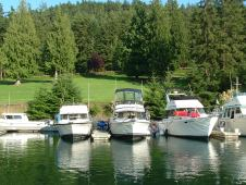 Pleasure boats at Blakely Is.