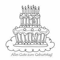 Ausmalbilder Alles Gute zum Geburtstag. Drucken Sie kostenlos