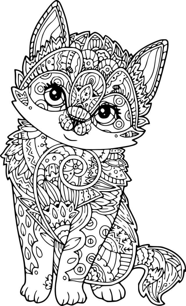 Coloriage animaux anti stress. Imprimer gratuitement, 17 pièces