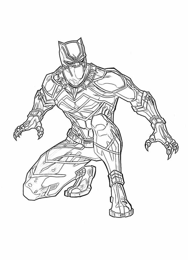 Black Panther Coloring Pages  Superhero Marvel Free Printable