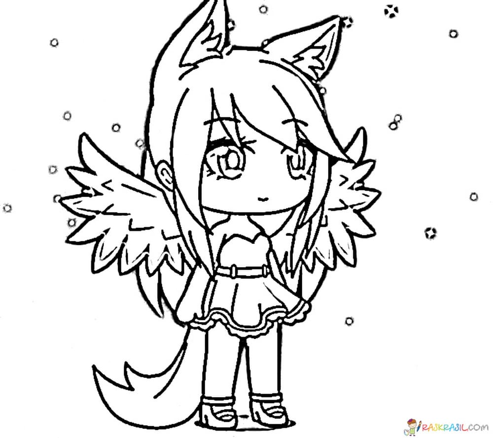 Galaxy Girl Pretty Girl Life Gacha Life Coloring Pages
