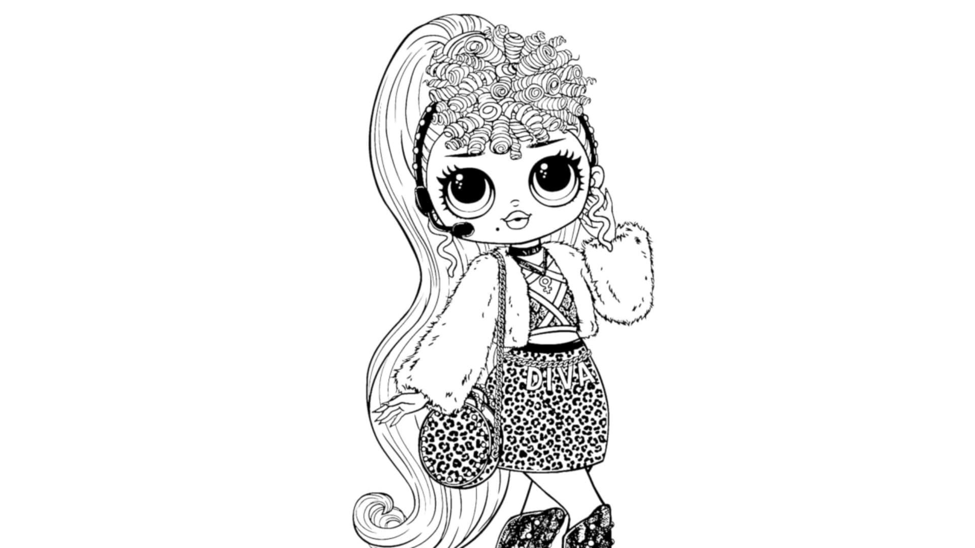 Lol Doll Big Sister Coloring Pages Novocom Top