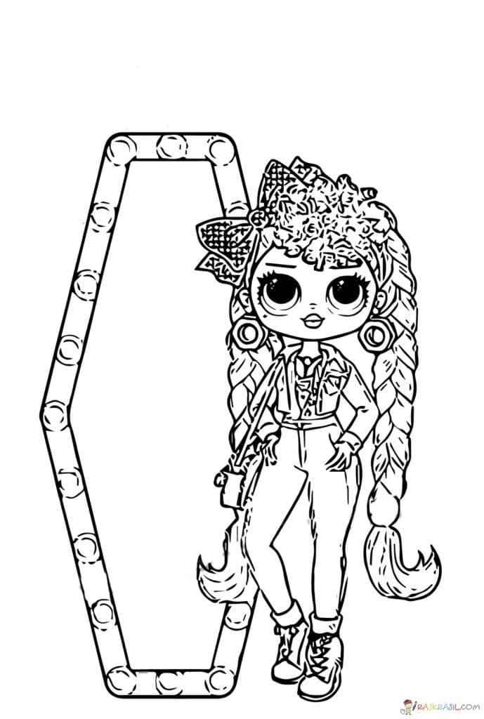Coloring pages LOL OMG. Print new popular dolls for free