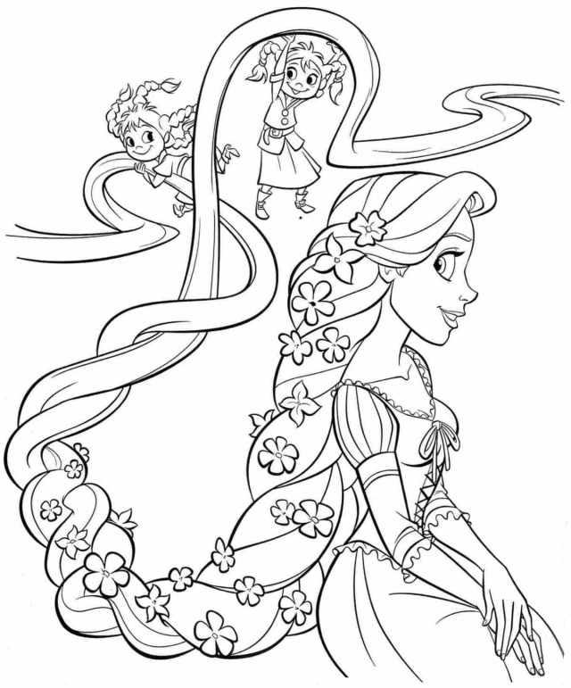 Coloriage Princesse. 22 images pour une impression gratuite