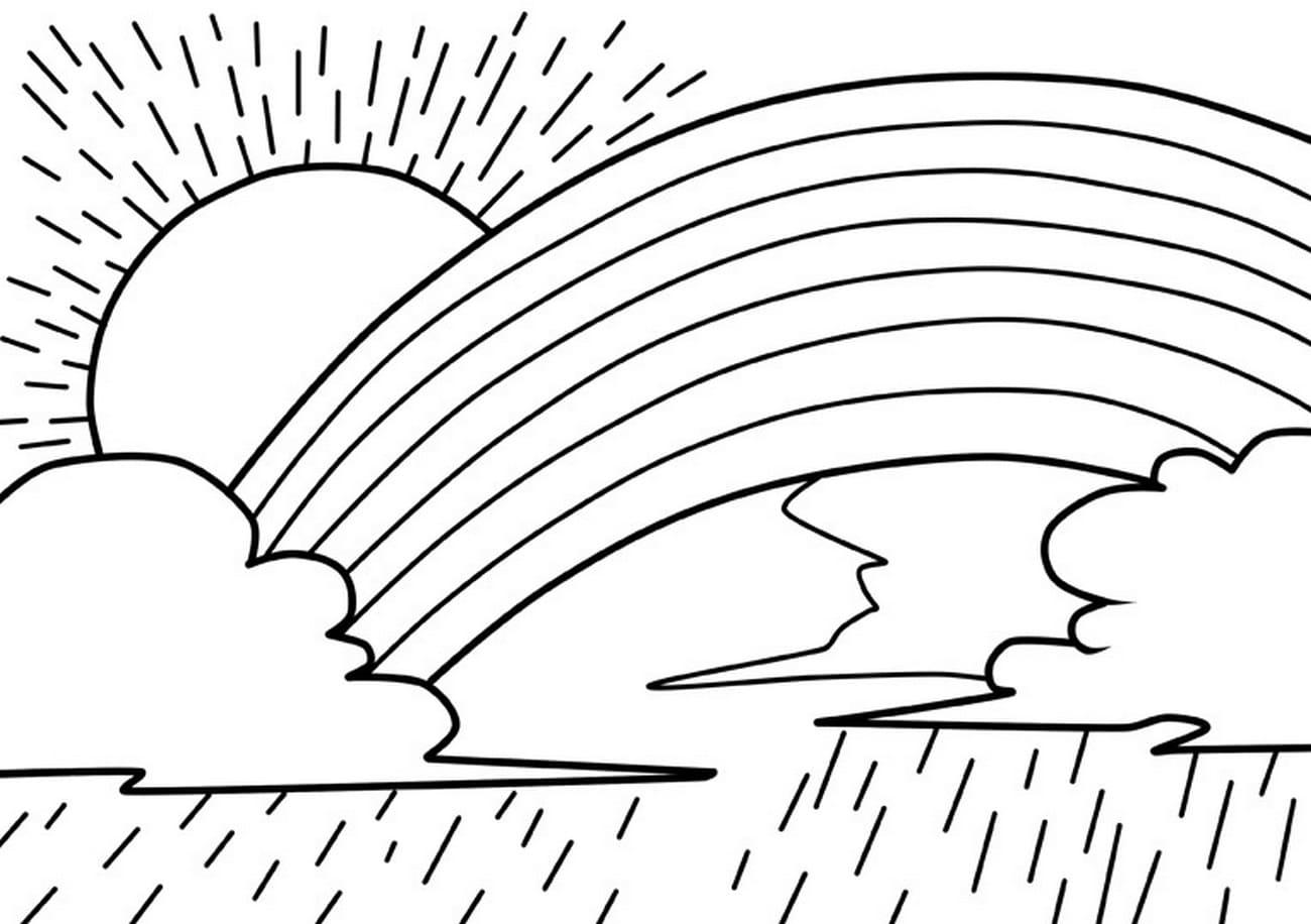 Regenbogen Malvorlage Gratis Kinder Ausmalbilder