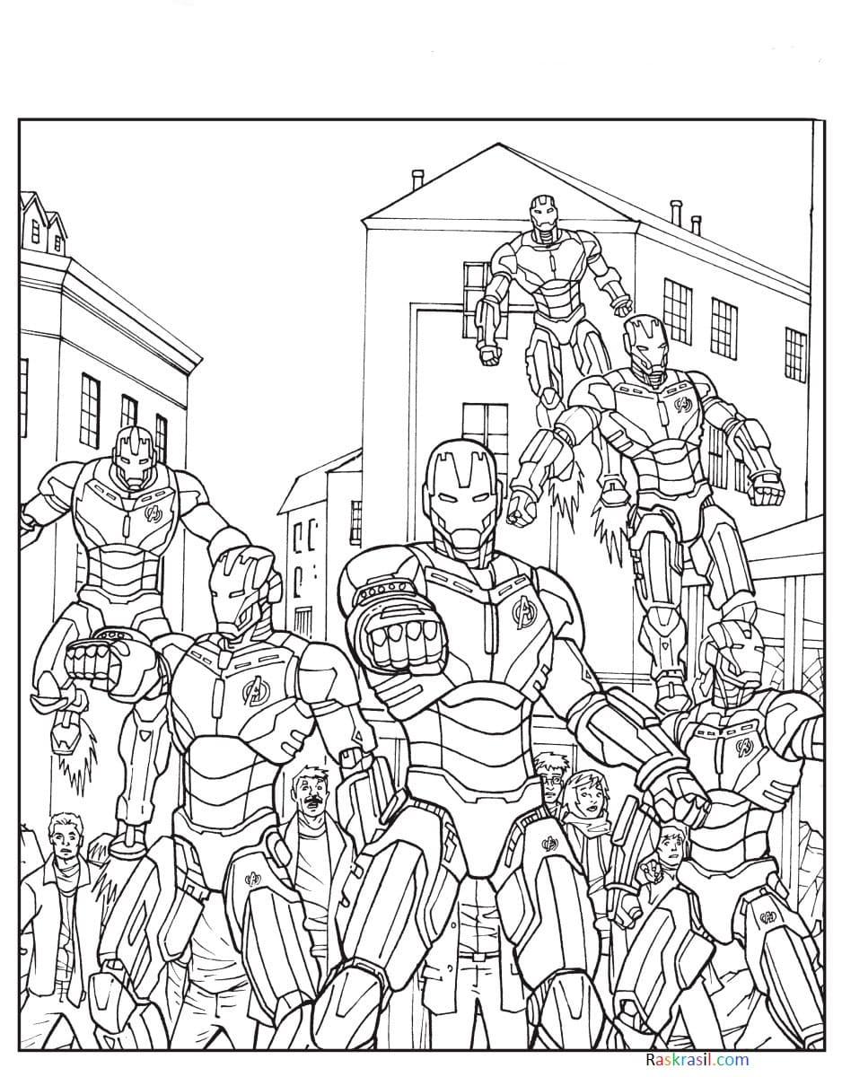 Malvorlagen Avengers