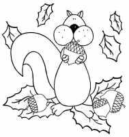 33 Ausmalbilder Herbst Eichhörnchen   Besten Bilder von ...
