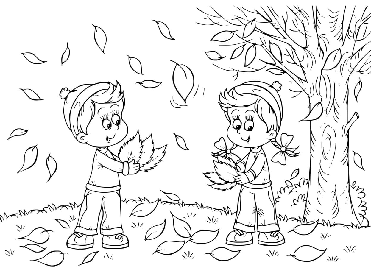 Fall Coloring Pages 60 Pictures Of Autumn Free Printable