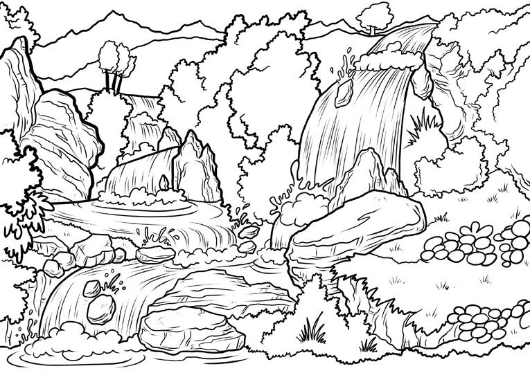 Malvorlagen Landschaft