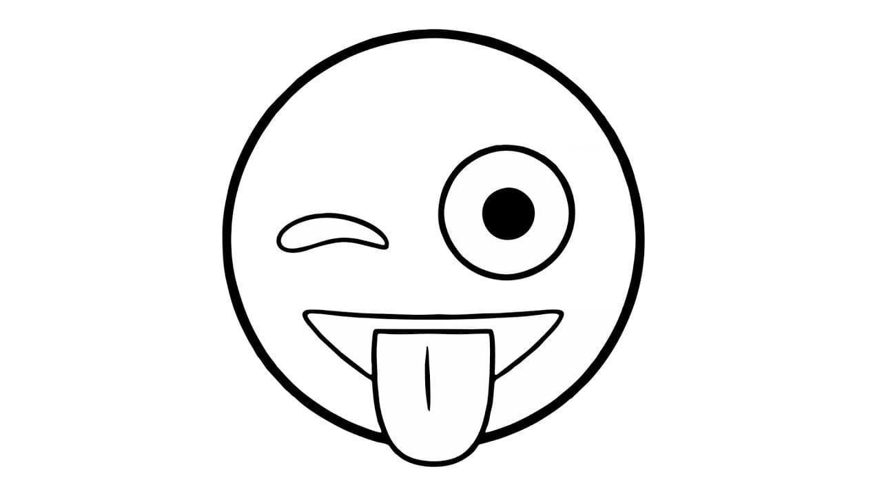 118+Ausmalbilder Emoji 18 Smiley Malvorlagen zum kostenlosen Drucken