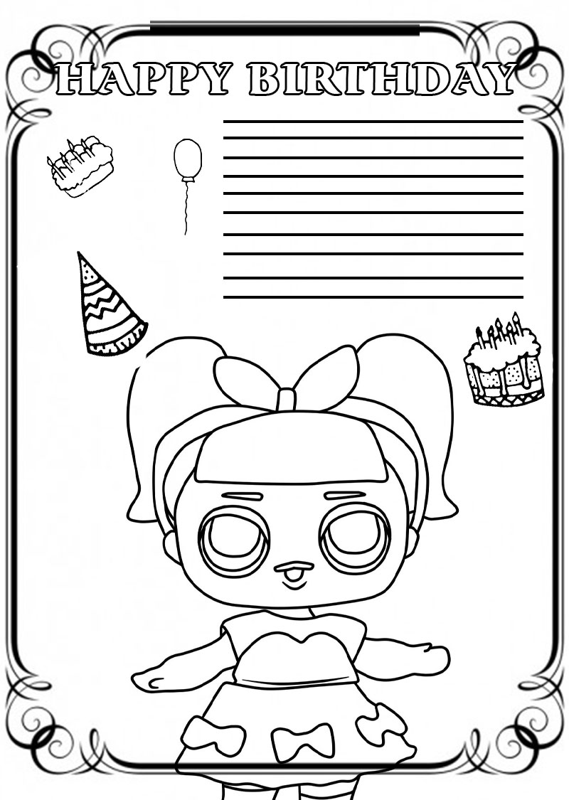 Happy Birthday Coloring Card New Collection 2020 Free Printable