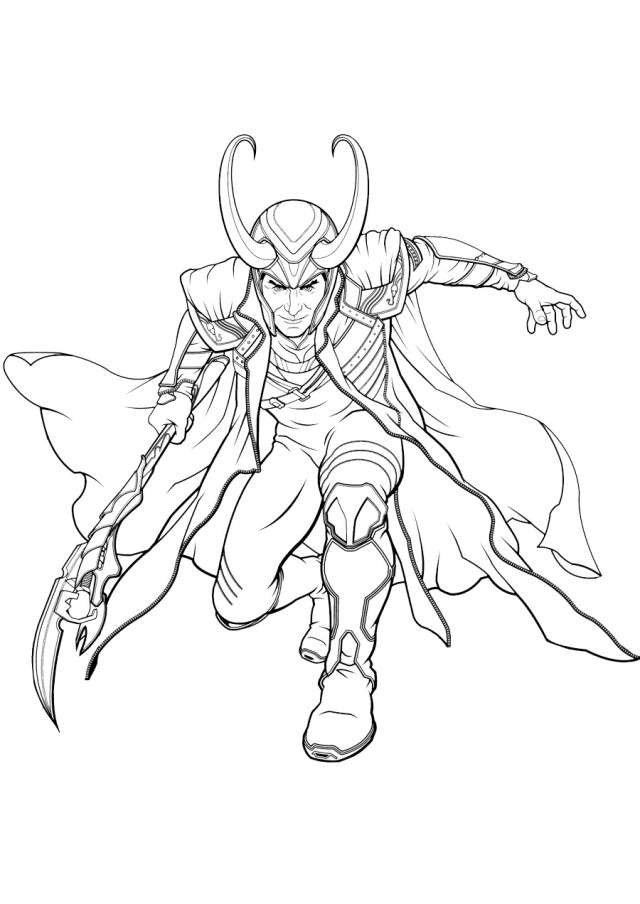 Loki Coloring Pages  17 New Pictures Free Printable Marvel Character