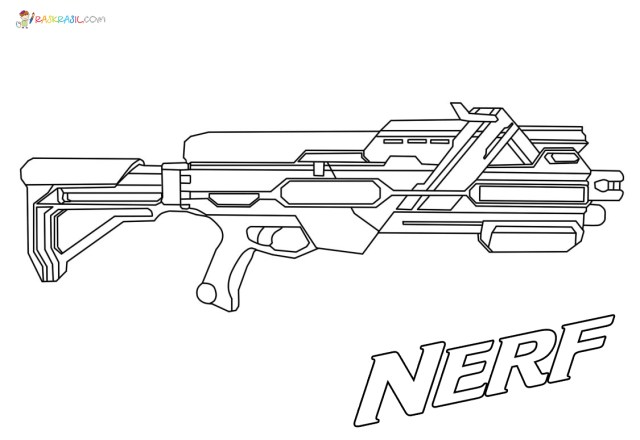 Nerf Gun Coloring Pages  23 New images Free Printable