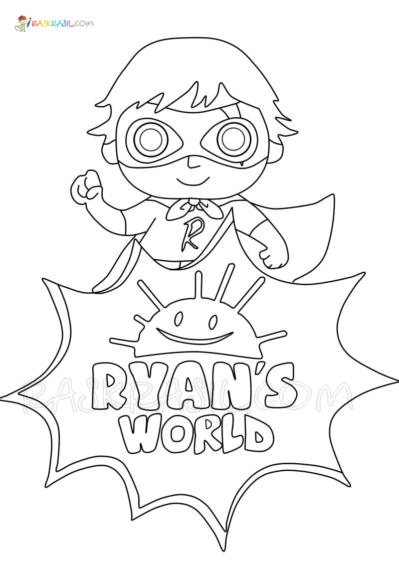 Ryan Coloring Pages : coloring, pages, Ryan's, World, Coloring, Pages, Printable