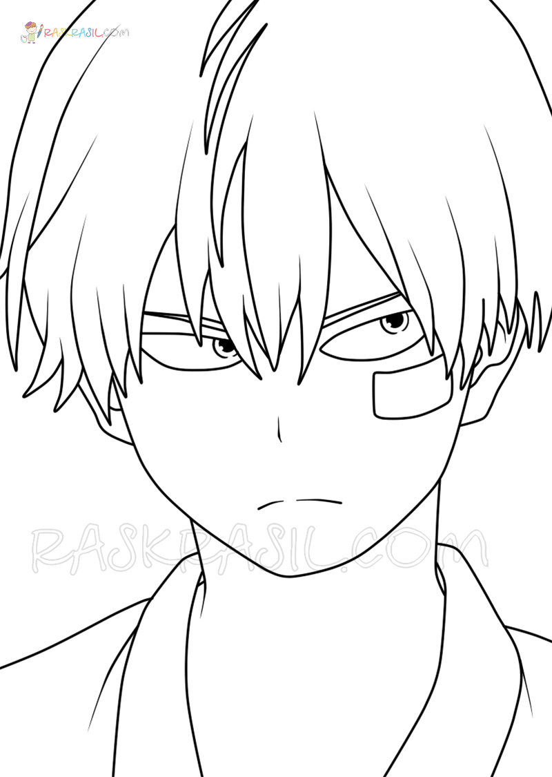 Todoroki Coloring Page : todoroki, coloring, Todoroki, Coloring, Pages, Images, Printable