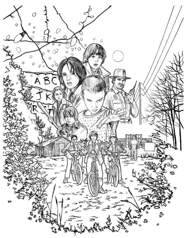 stranger things coloriage cheap buy online