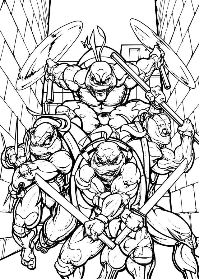 Teenage Mutant Ninja Turtles Coloring Pages. Print Them for Free!