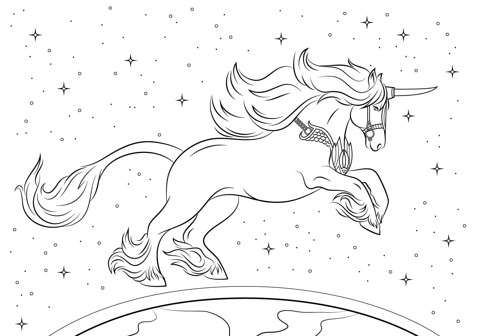 Dibujos para colorear de unicornios 100 imgenes en