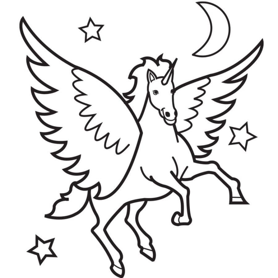 Disegni Da Colorare Di Unicorni 100 Immagini In Bianco E Nero